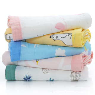70% Bamboo 30% Cotton 6 Layers Muslin Baby Blanket