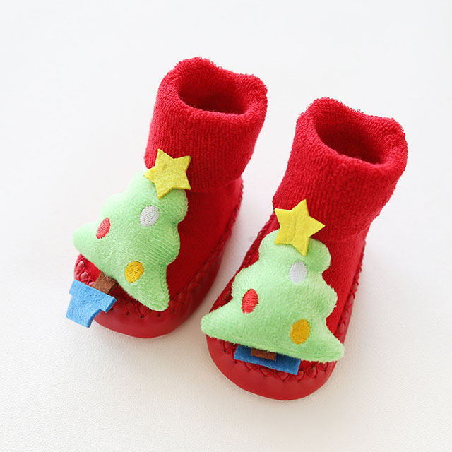 Merry Christmas Baby Socks Baby Floor Socks