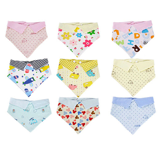Cotton Print Baby Bibs with Collar Design